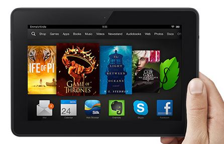 The new Kindle Fire HDX includes a little extra....person
