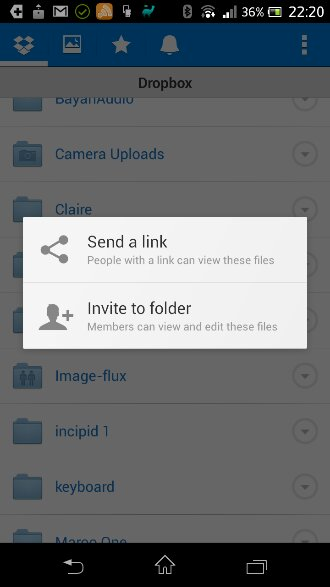 Dropbox updated. Now with folder sharing management