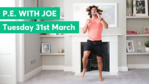 Daily Joe Wicks PE Lessons – All ad-revenue heading to the NHS