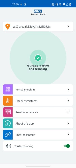 NHS COVID 19 App (finally) goes live
