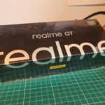 Realme GT 5G in the building